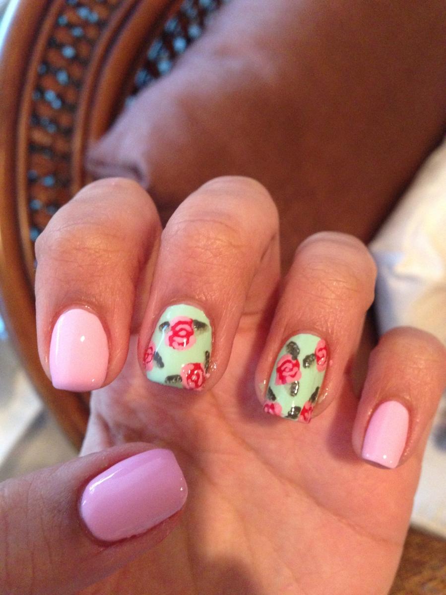 Vintage Rose Nail Art Tutorial   Beauty Blog